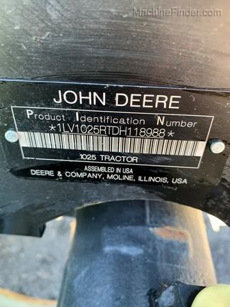 2013 John Deere 1025R