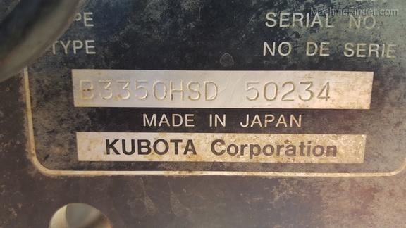 2013 Kubota B3350H