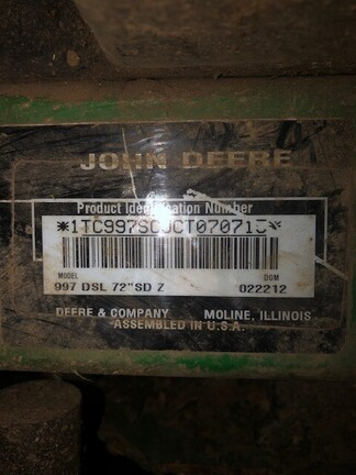 2012 John Deere 997
