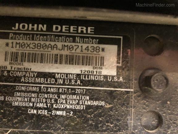 2018 John Deere X380