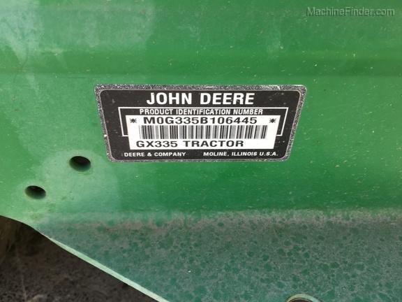 2002 John Deere GX335