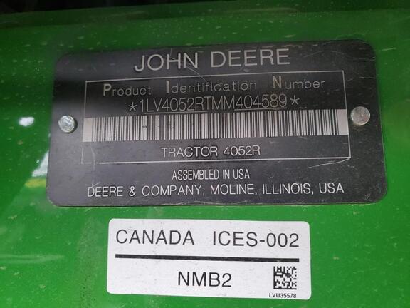 2021 John Deere 4052R