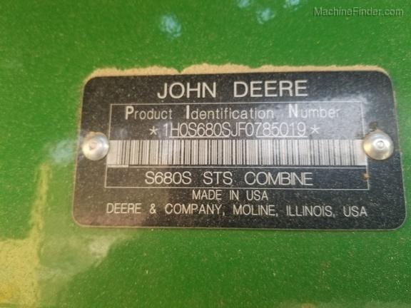 2016 John Deere S680