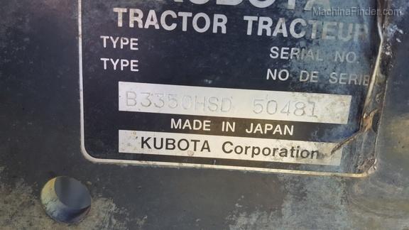 2013 Kubota B3350