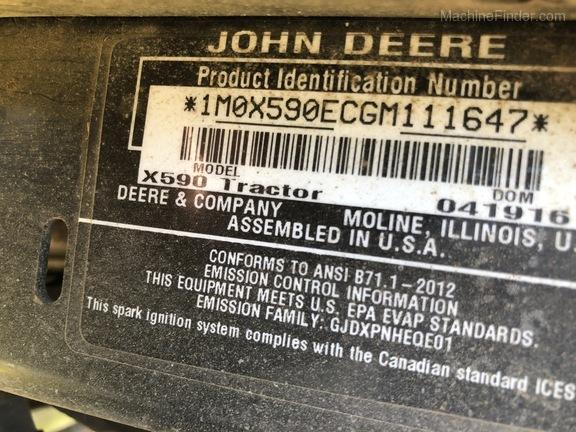 2016 John Deere X590