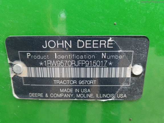 2016 John Deere 9570RT