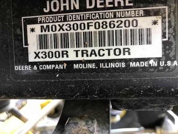 2008 John Deere X300R