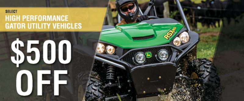 $500 Off High Performance Gator Utility Vehicles