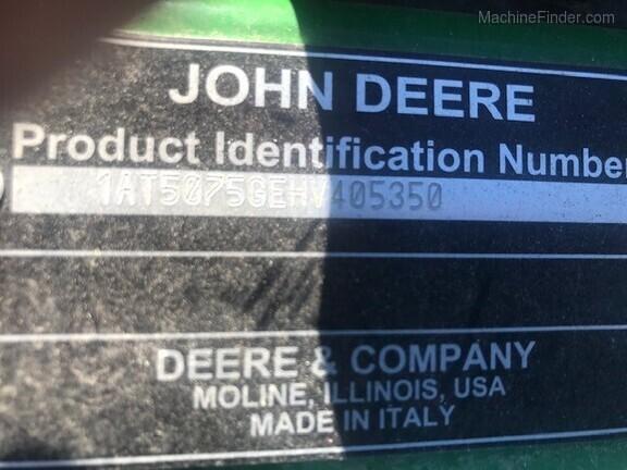 2018 John Deere 5075GV