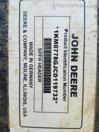 2013 John Deere 778