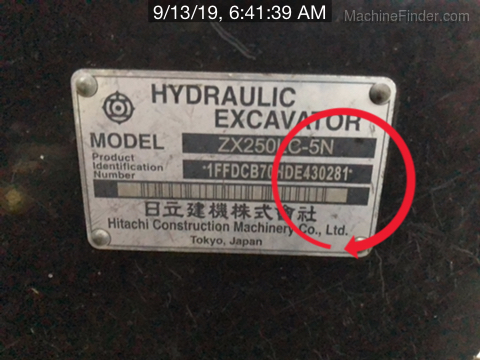 2014 Hitachi ZX250