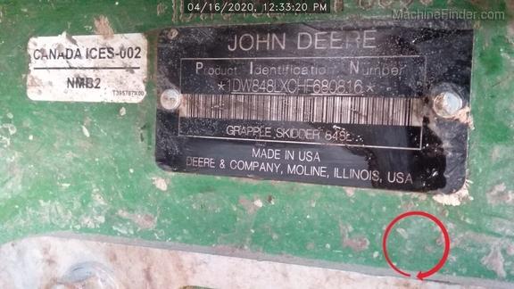 2017 John Deere 848LXT