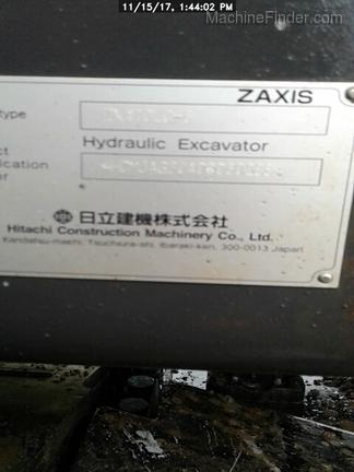 2017 Hitachi ZX4706