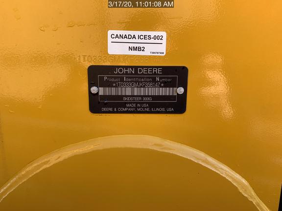 2019 John Deere 333G
