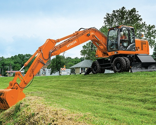 Wheeled Excavators Equipment Image