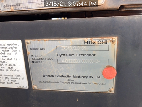 2018 Hitachi ZX3456