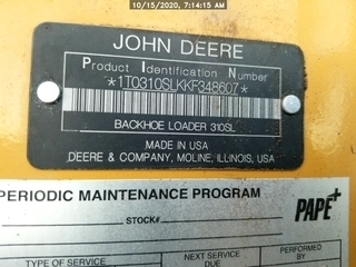 2019 John Deere 310SL