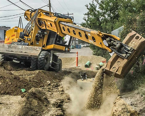 Rough Terrain Wheeled Excavators Equipment Image