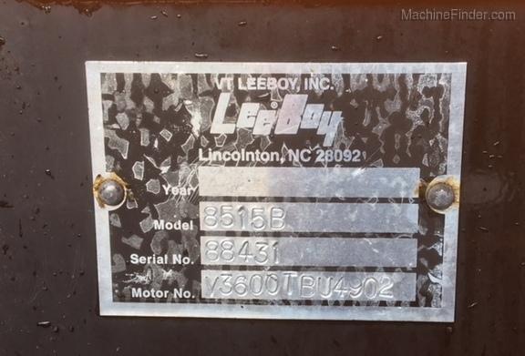 2012 Leeboy 8515B