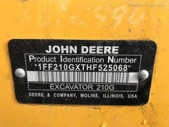 2017 John Deere 210GLC