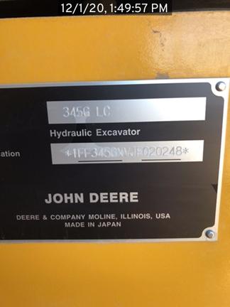2019 John Deere 345GLC