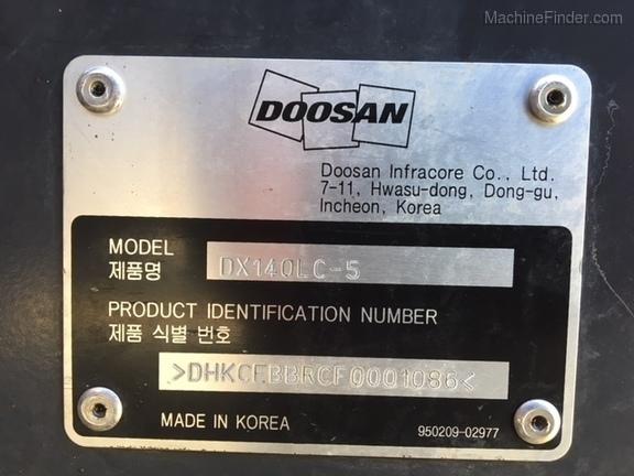 2015 Doosan DX140L