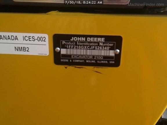 2018 John Deere 210GLC