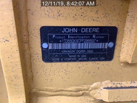 2015 John Deere 550KLG