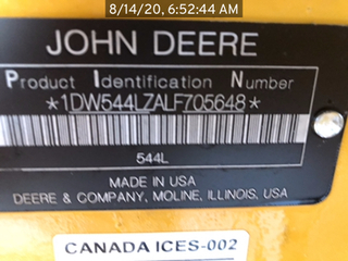 2020 John Deere 544L