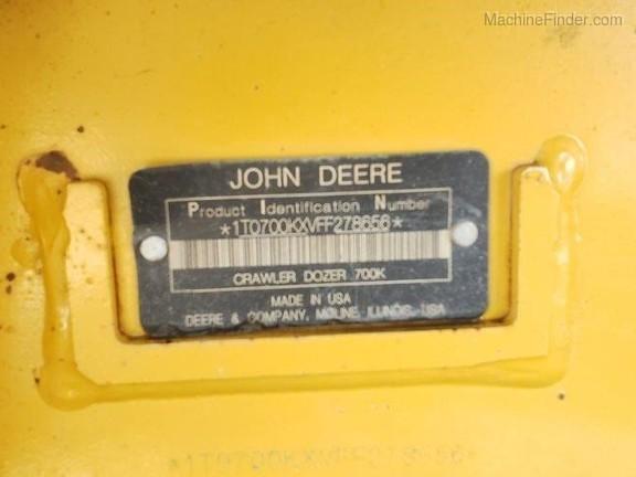 2015 John Deere 700K