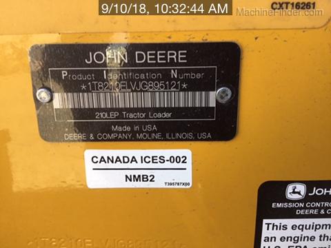 2018 John Deere 210LEP