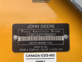 2019 John Deere 772GP