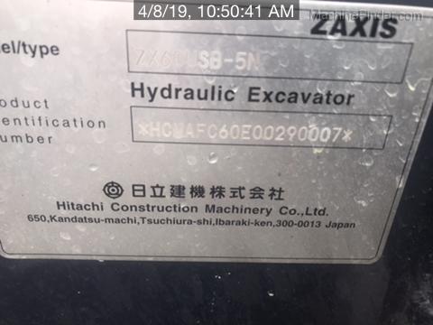 2019 Hitachi ZX60U5