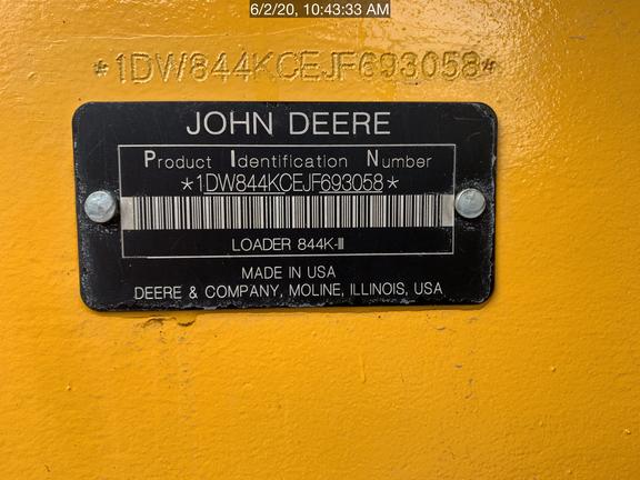 2019 John Deere 844KII
