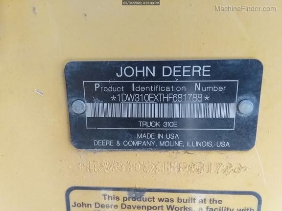 2017 John Deere 310E