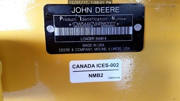 2017 John Deere 544KII
