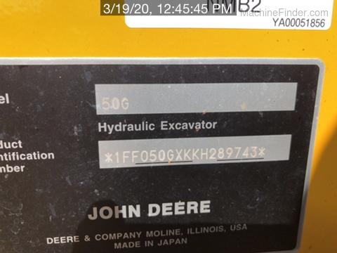 2019 John Deere 50G