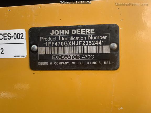 2018 John Deere 470GLC