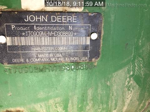 2017 John Deere 909MH