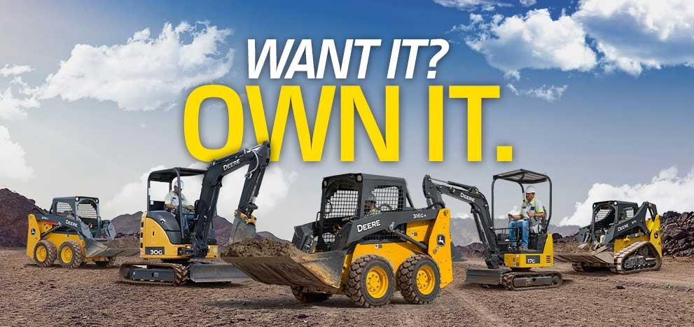 Deere compact construction equipment