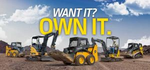 Deere compact construction equipment