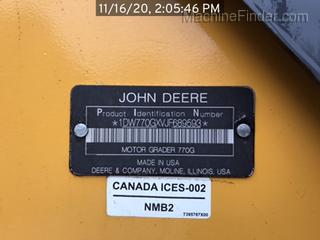 2018 John Deere 770G