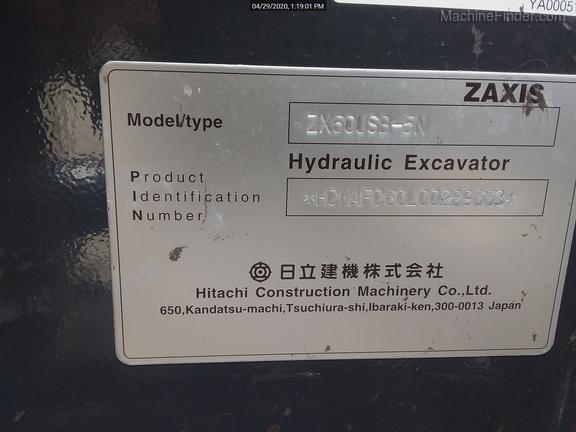 2018 Hitachi ZX60U5