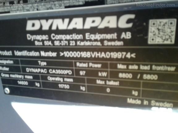 2017 Dynapac CA3500