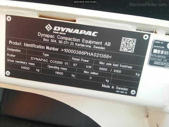 2018 Dynapac CC5200