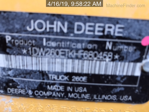 2017 John Deere 260E