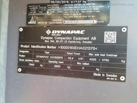 2018 Dynapac CA1500