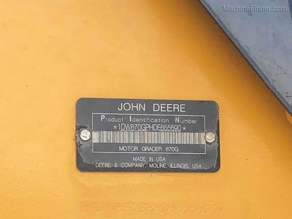 2013 John Deere 870G