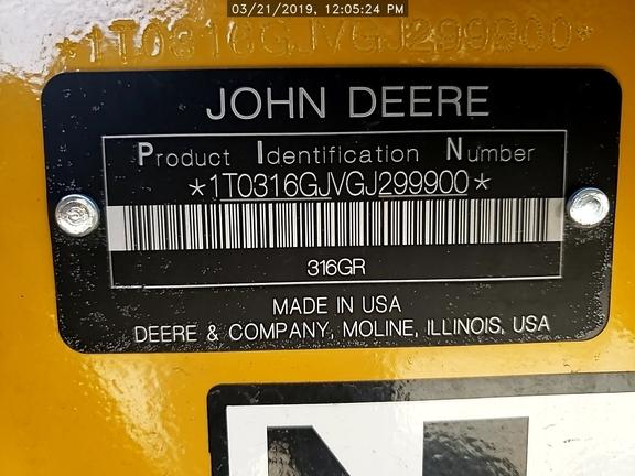 2016 John Deere 316G