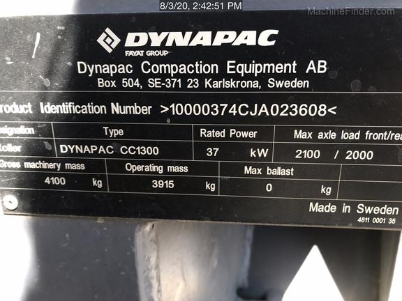 2019 Dynapac CC1300